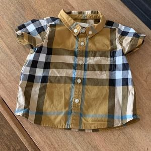 Burberry SS Check Button Down (Baby 6mo)